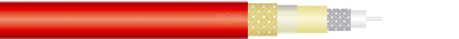 < = MrCable = > BERMUDDA F08 PVC RED